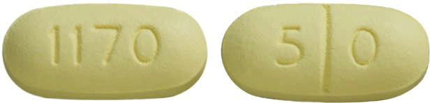 Image of yellow pill imprinted 1170 / 50