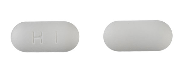 Image of white pill imprinted H1