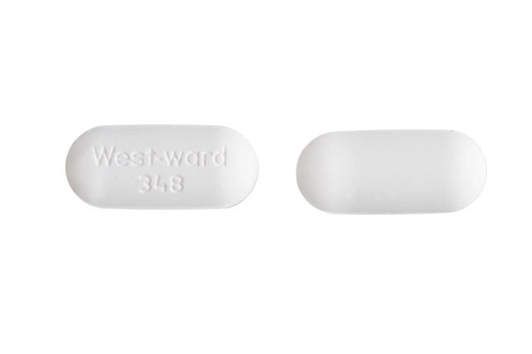 Image of white pill imprinted West-ward 348