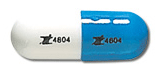 Image of blue and white pill imprinted Z 4804 / Z 4804