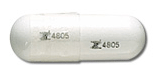 Image of clear pill imprinted Z 4805 / Z 4805