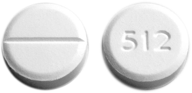 Image of white pill imprinted 512