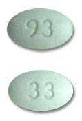 Image of light green pill imprinted 93 / 33