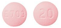 Image of pink pill imprinted E703 / 20