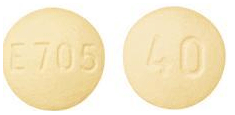 Image of yellow pill imprinted E705 / 40