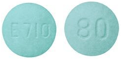 Image of green pill imprinted E710 / 80