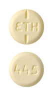 Image of yellow pill imprinted ETH / 445