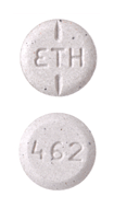 Image of gray pill imprinted ETH / 462