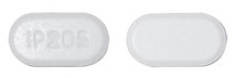 Image of white to off-white pill imprinted IP205