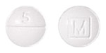 Image of white pill imprinted M (Boxed) / 5