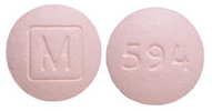 Image of pink pill imprinted M (Boxed) / 594