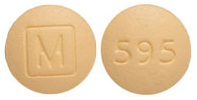 Image of yellow pill imprinted M (Boxed) / 595