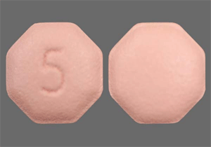 Image of pink pill imprinted 5