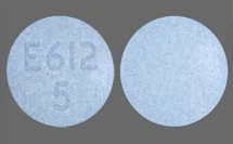 Image of blue pill imprinted E612 5