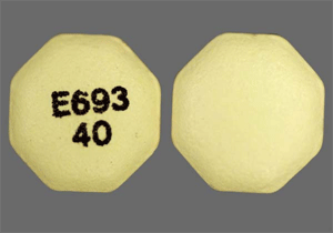 Image of yellow pill imprinted E693 40