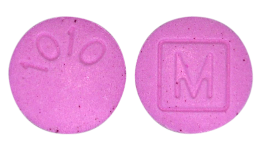 Image of pink pill imprinted M (Boxed) / 1010