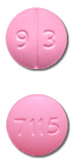 Image of pink pill imprinted 93 / 7115