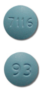 Image of blue pill imprinted 93 / 7116