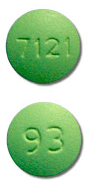Image of green pill imprinted 93 / 7121