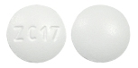 Image of white to off-white pill imprinted ZC17