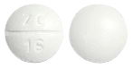 Image of white to off-white pill imprinted ZC 16