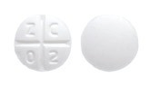 Image of white pill imprinted Z C 0 2