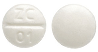 Image of white pill imprinted ZC 01