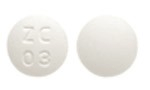 Image of white pill imprinted ZC 03