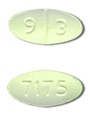 Image of light green pill imprinted 93 / 7175