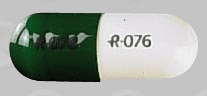 Image of green and white pill imprinted R076 R076