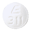 Image of white to off-white pill imprinted E 311