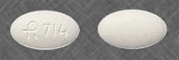 Image of white pill imprinted R714