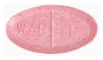 Image of pink pill imprinted WAR 1