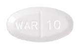 Image of off-white pill imprinted WAR 10