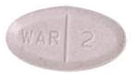 Image of lavender pill imprinted WAR 2