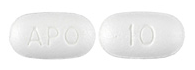 Image of white pill imprinted APO / 10