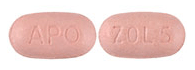Image of pink pill imprinted APO / ZOL 5