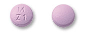 Image of lavender pill imprinted M Z1